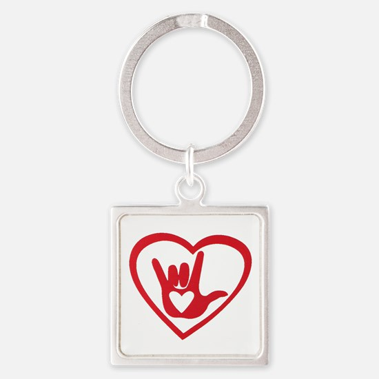 I love you with all my heart Keychains