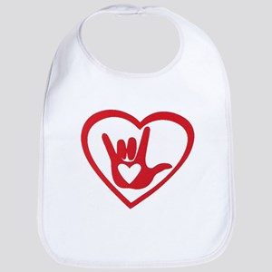 I love you with all my heart Bib