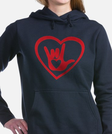 I love you with all my heart Women's Hooded Sweats
