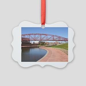 Riverwalk, Pueblo, Colorado Picture Ornament