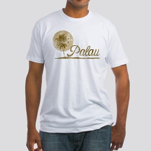 Palm Tree Palau Fitted T-Shirt