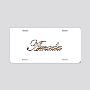 Gold Amada Aluminum License Plate
