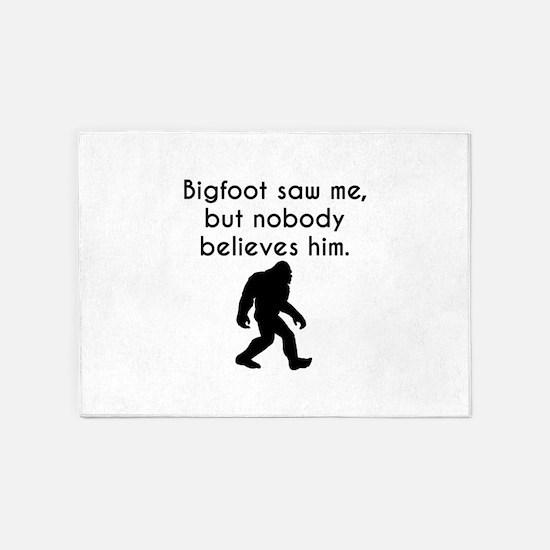 Bigfoot Saw Me 5'x7'Area Rug