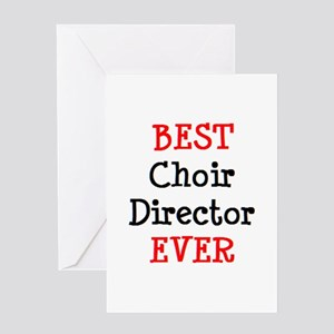 best choir director ever Greeting Card