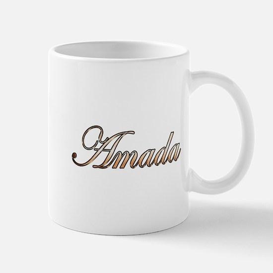 Gold Amada Mugs