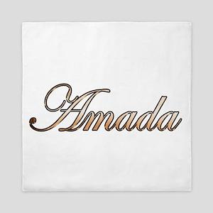 Gold Amada Queen Duvet