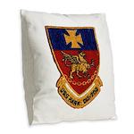 USS HANK Burlap Throw Pillow