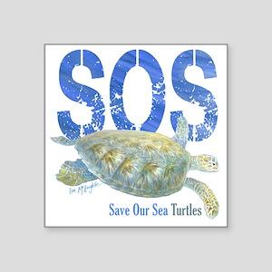 Sos Save Our Sea Turtles Sticker