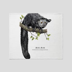 Aye-Aye Throw Blanket