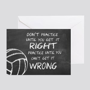 Inspirational volleyball greeting cards cafepress practice volleyball motivational greeting cards m4hsunfo