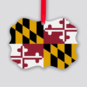 State Flag of Maryland Picture Ornament