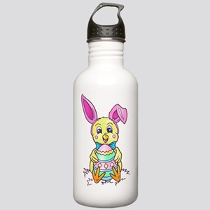 Chickadee Easter Bunny Stainless Water Bottle 1.0L