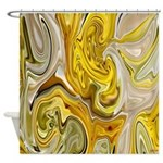Native American Yellow Summer Shower Curtain