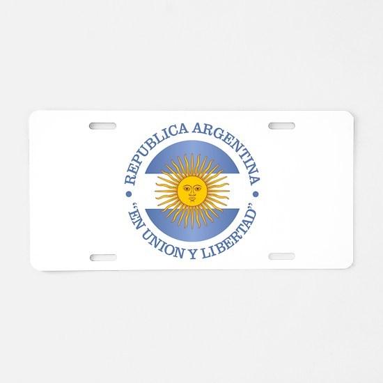 Argentine Republic Aluminum License Plate