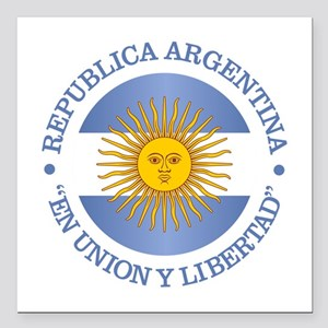 "Argentine Republic Square Car Magnet 3"" x 3"""