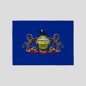 State Flag of Pennsylvania 5'x7'Area Rug