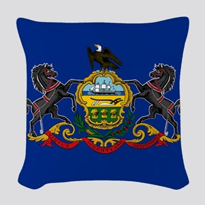 State Flag of Pennsylvania Woven Throw Pillow