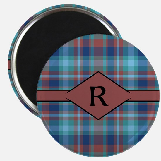 Marsala Plaid Monogram Magnet