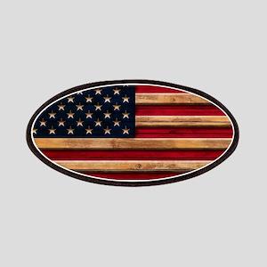 American Flag Vintage Distressed Wood Patch