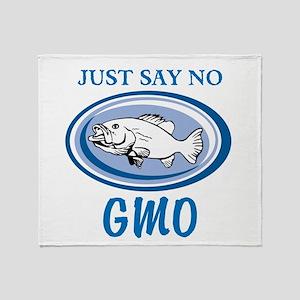 No GMO Fish Throw Blanket