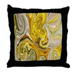 Native American Yellow Summer Throw Pillow