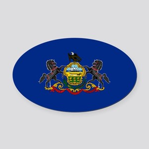 State Flag of Pennsylvania Oval Car Magnet