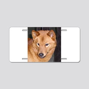 finnish spitz Aluminum License Plate
