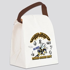 Navy - Seabee - Rates Canvas Lunch Bag