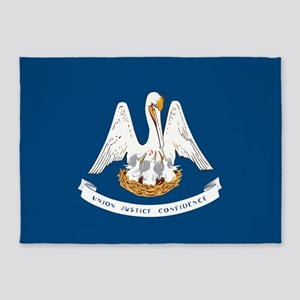 State Flag of Louisiana 5'x7'Area Rug