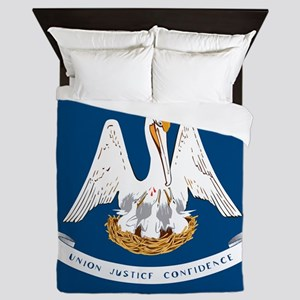 State Flag of Louisiana Queen Duvet