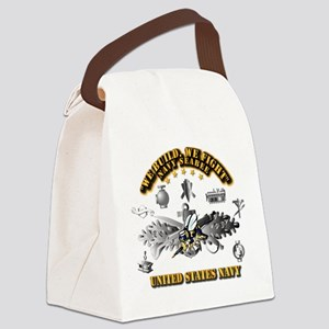 Navy - Seabee - Badge Canvas Lunch Bag