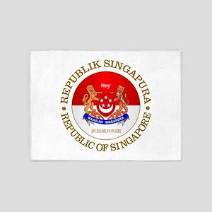 Singapore COA 5'x7'Area Rug