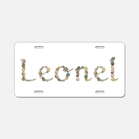 Leonel Seashells Aluminum License Plate