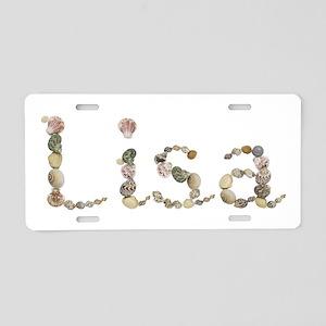 Lisa Seashells Aluminum License Plate