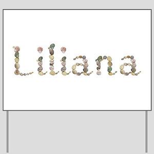 Liliana Seashells Yard Sign
