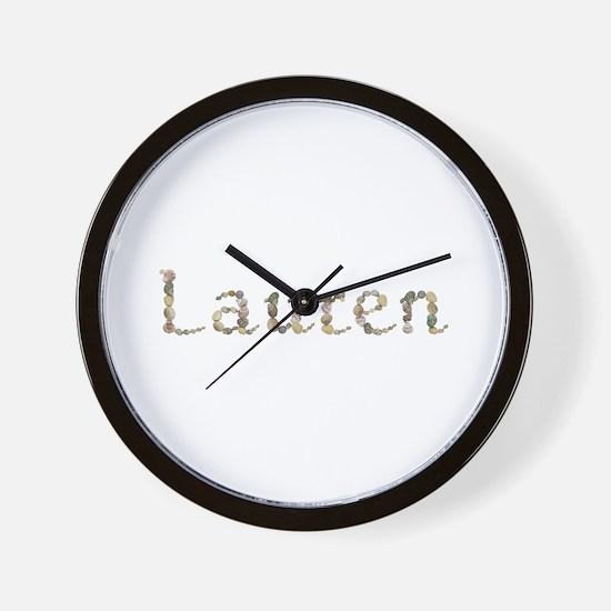Lauren Seashells Wall Clock