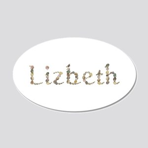 Lizbeth Seashells 20x12 Oval Wall Decal