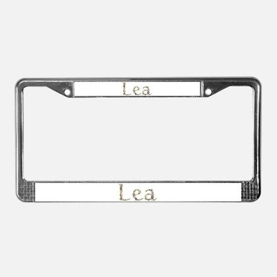 Lea Seashells License Plate Frame