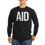 Aid (white) Long Sleeve Dark T-Shirt