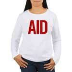Aid (red) Women's Long Sleeve T-Shirt