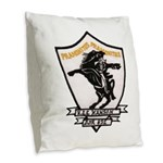 USS HANSON Burlap Throw Pillow