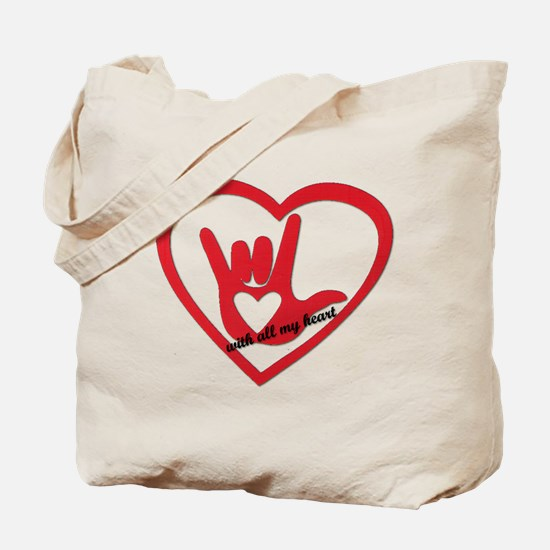 ILY with all my heart Tote Bag
