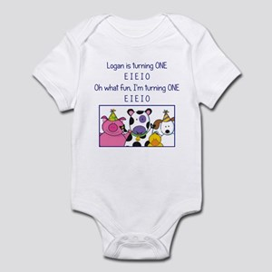 Logan turns one! Infant Bodysuit