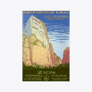 Zion NP 1930s Vintage Rectangle Magnet (100 pack)