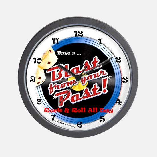 Rock & Roll All Day Long Wall Clock