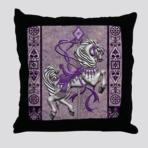 Harvest Moons Victorian Carousel Throw Pillow
