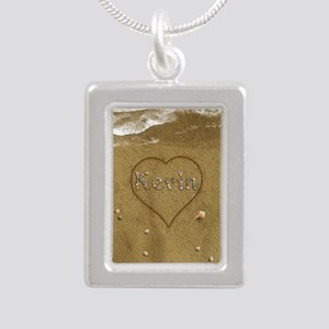 Kevin Beach Love Silver Portrait Necklace