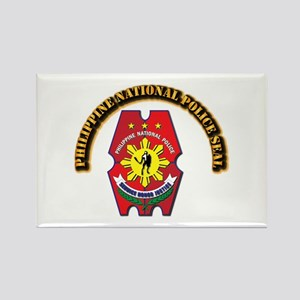 Philippine National Police Seal w Rectangle Magnet