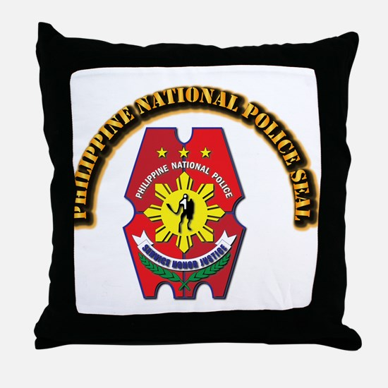 Philippine National Police Seal with Throw Pillow