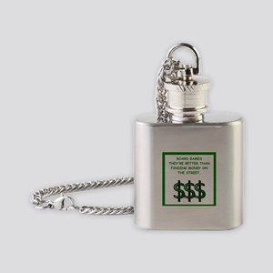 board games Flask Necklace